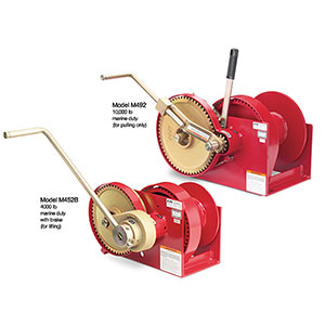 Double Reduction Spur Gear Hand Winches